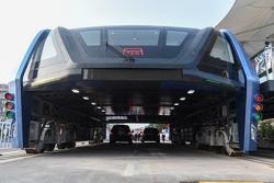 В Китае начали испытывать автобус-портал